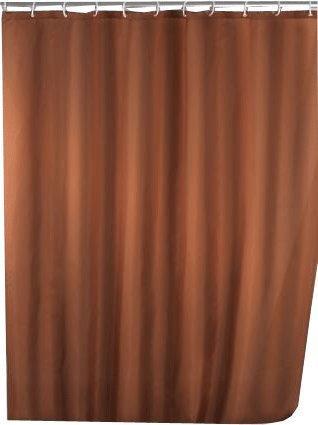 Wenko Anti-Schimmel Duschvorhang (200361) braun