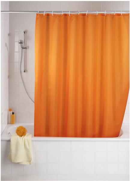 Wenko Anti-Schimmel Duschvorhang (200391) orange
