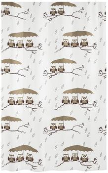 Kleine Wolke Duschvorhang Eulen (180 x 200 cm)