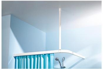 Kleine Wolke Deckenhalterung für Duschvorhangstangen weiß 60cm (3303100000)
