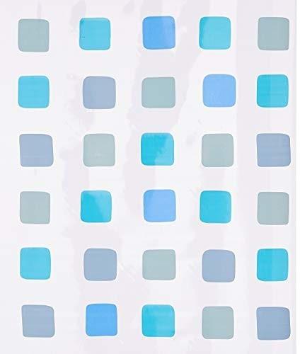 Kleine Wolke Duschrollo für Kleine Wolke-Leerkassette 128x240cm Quadrate blau (3321721747)