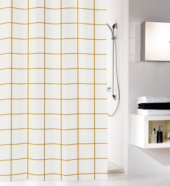 Kleine Wolke Grid Polyester Schwarz-Gold 180x200cm