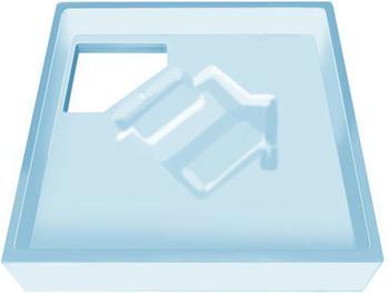 poresta Poresta Wannenträger für Bette Duschwanne Extraflach 80 x 80 x 6,5 cm (17029883)