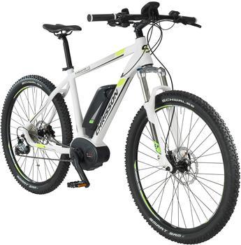 CHRISSON E-Bike Mountainbike E-Mounter, 27,5 Zoll, 52cm Rahmenhöhe, 9 Gang, BOSCH Mittelmotor weiß 70 cm (27,5 Zoll)