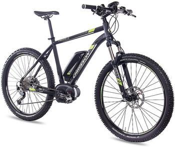 CHRISSON E-Bike Mountainbike E-Mounter, 27,5 Zoll, 48cm Rahmenhöhe, 9 Gang, BOSCH Mittelmotor schwarz