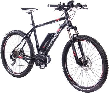 CHRISSON E-Bike Mountainbike E-Mounter 2.0, 27,5 Zoll, 10 Gänge, Mittelmotor schwarz 70 cm (27,5 Zoll)
