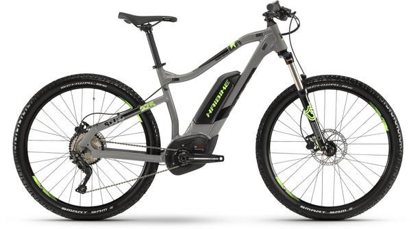 Haibike SDURO HardSeven 4.0 500Wh 10-G Deore Bcxp 2019 grau/schwarz/grün, S