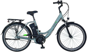 "Prophete E-Bike GENIESSER e9.6 City E-Bike 26"", 3 Gang, Mittelmotor 250 W silberfarben 26 Zoll (66,04 cm)"