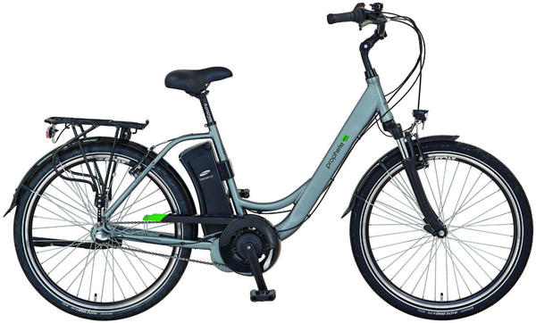 prophete e bike geniesser e9 6 city e bike 26 3 gang mittelmotor 250 w silberfarben 26 zoll. Black Bedroom Furniture Sets. Home Design Ideas