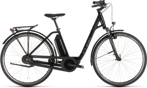 Cube Town Hybrid ONE 400 Easy Entry BlacknBrown 54cm (28