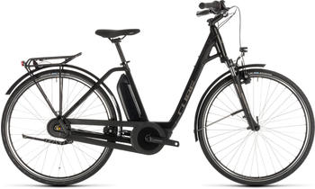 "Cube Town Hybrid ONE 400 Easy Entry BlacknBrown 50cm (28"") 2019 E-Bikes"
