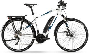 "Haibike SDURO Trekking 4.0 weiß/blau/schwarz M | 52cm (28"") 2019 E-Bikes"