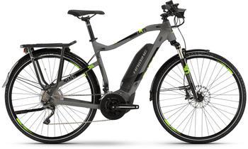 "Haibike SDURO Trekking 4.0 grau/schwarz/grün M | 52cm (28"") 2019 E-Bikes"