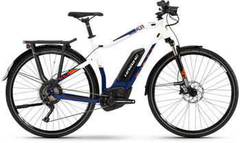 "Haibike SDURO Trekking 5.0 blau/weiß/orange S | 48cm (28"") 2019 E-Bikes"
