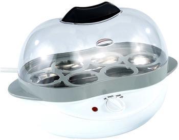Rosenstein & Söhne 2in1 Eierkocher mit Warmhalte-Funktion, 400 Watt, 6 Eier oder Rührei