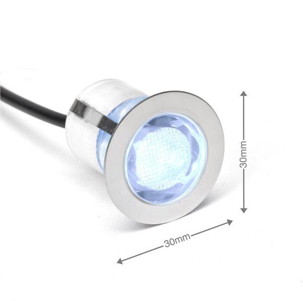 Brilliant Cosa 30 LED 10er-Set Edelstahl (G03093/82)