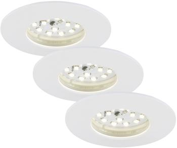 Briloner LED-Bad-Einbauleuchte Set (3 Stk.)