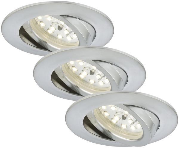Briloner LED 16,5W 3er-Set silber (7209-039)
