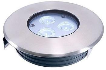Deko-Light LED Bodeneinbauleuchte, Flat, 3 x 2 Watt Kaltweiß, 15