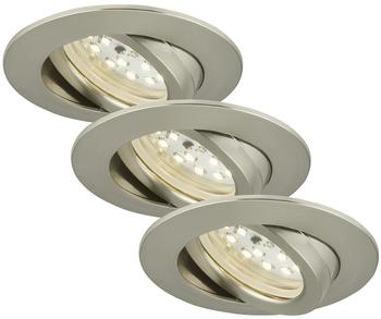 Briloner LED 16.5W 3er-Set Nickel (7232-032)