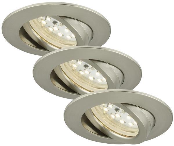 Briloner LED 16.5W 3er-Set Nickel (7232-032)