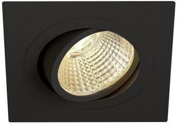 SLV NEW TRIA LED DL SQUARE Set, mattschwarz, 12W, 38,2700K,inkl....