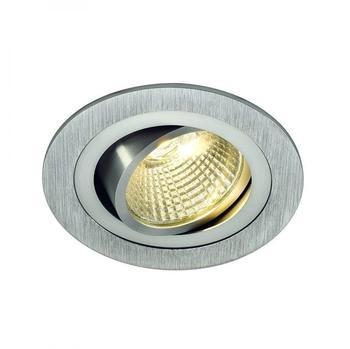 SLV NEW TRIA LED DL ROUND Set, alu-brushed, 25W, 30, 3000K, inkl. Treiber, Clipfedern, alu gebürstet