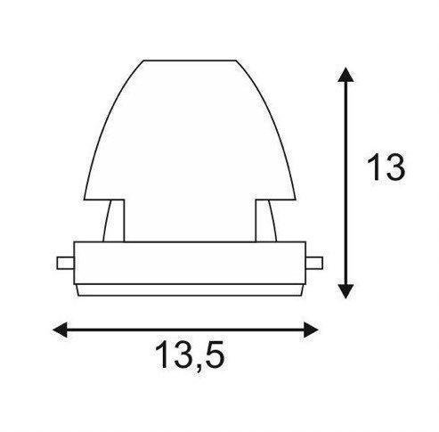 Einbaustrahler GU5,3 MR16 12V aus Gips eckig überstreichbar Downlight