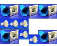 Xenon Bodeneinbau eckig starr 4W 300lm LEDww 5er SET LED 300 Lumen ww