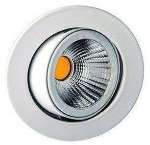 Rutec ALU57371UWWOK LED-Einbaustrahler 8W 2700K 800lm ws mt Kst-tr 1LED Konverter IP20