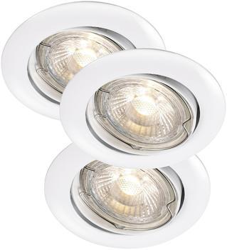 Nordlux Recess Einbauleuchten - LED 3x3 Watt, weiß