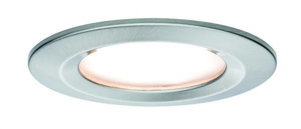Paulmann 93871 Einbauleuchte LED Coin Slim IP44 rund starr 1x6,8W 2700K 230V 51mm Eisen