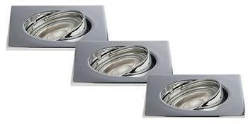 STARLICHT LED Einbauleuchte Downlight 3/BOX Chrome, 21520021