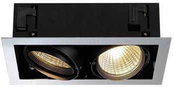 SLV AIXLIGHT 2, Einbauleuchte, zweiflammig, LED Deckeneinbaul., chrom/matt- schwarz, 30,