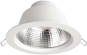Megaman LED-Einbauleuchte 9.5 W Warm-Weiß Siena MM76736 Weiß
