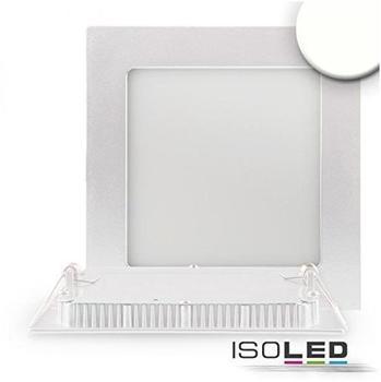 ISOLED-N Downlight ultra flach, eckig, weiß, dimmbar, 15W, neutralweiß