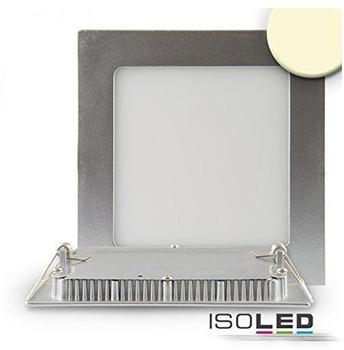 ISOLED-N Downlight Ultra flach, eckig, silber, dimmbar, 9W, warmweiß