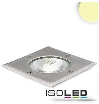 ISOLED LED Bodeneinbaustrahler quadr. Edelstahl, IP67, 7W COB 90 warmweiß