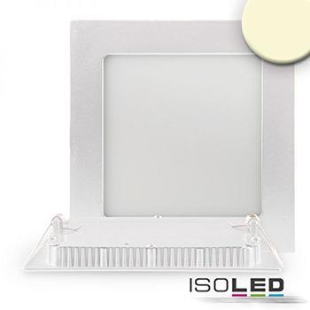 ISOLED-N Downlight Ultra flach, eckig, weiß, dimmbar, 15W, warmweiß