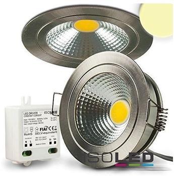 ISOLED LED Einbaustrahler COB mit Reflektor, 5W nickel geb., warmweiss 112032