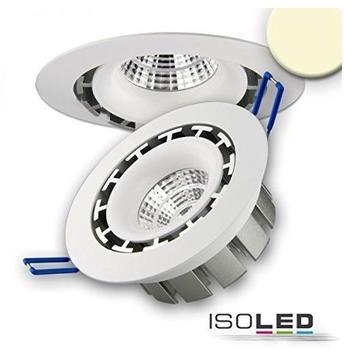 ISOLED LED Einbaustrahler COB, weiss 15W 45, rund warmweiss dimmbar