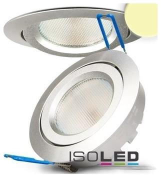 ISOLED LED Einbaustrahler silber 8W SMD, rund warmweiss dimmbar