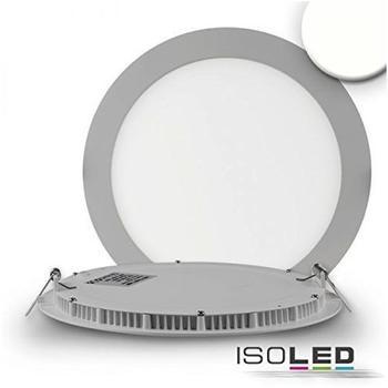 ISOLED LED Downlight ultra flach rund, silber 18W, neutralweiß