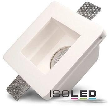ISOLED-N Gips-Einbaustrahler GX5.3, quadratisch, rückversetzt, weiß