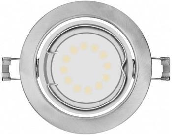 Osram Einbauleuchte LED GU10 9 W 4052899393851 LED Downlight 3x3W grå inkl. GU10 Silber