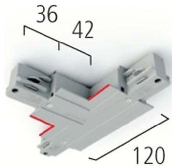LTS Licht & Leuchten LTS EUE 29 WEISS T-verbinder Einbau Mit Einsp.