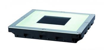 PAULMANN Solar-Einbauleuchte 0.6 W Warm-Weiß Cube IP67 LED, Edelstahl,