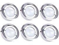 PAULMANN 6er Set Spot Strahler Chrom Küchen Möbel Einbau Leuchten rund Alu Lampen Wohn Zimmer Beleuchtung