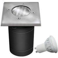 etc-shop Luxus Außen Leuchte Hof Boden Einbau Lampe Strahler IP67 Inklusive 5 Watt LED