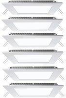 V-TAC 6er Set LED Decken Einbau Raster kaltweiß Wohn Zimmer Wand Panel Leuchten quadratisch